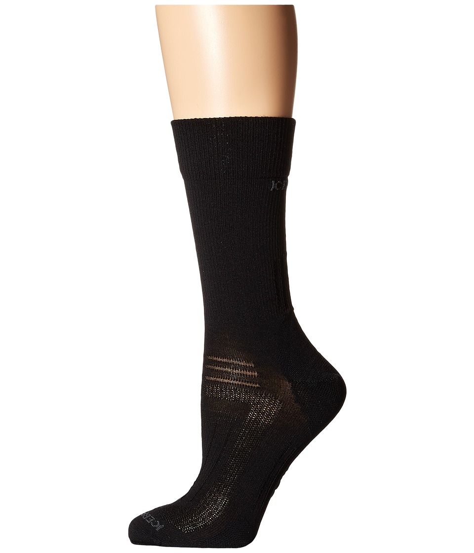 Icebreaker Hike Liner Crew 1 Pair Pack Black Womens Crew Cut Socks Shoes