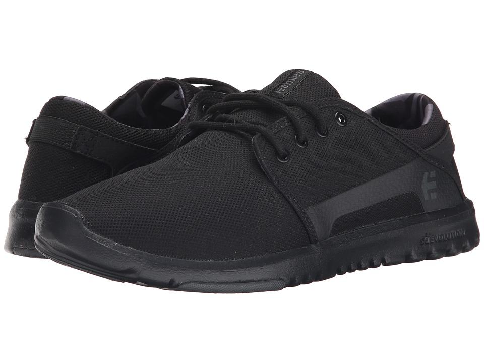 etnies Scout Black/Grey/Black Mens Skate Shoes