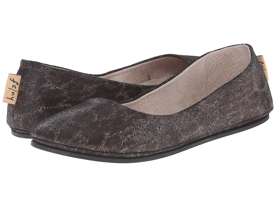 French Sole Sloop Black Leopard X Womens Flat Shoes