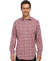 Thomas Dean & Co. - Long Sleeve Woven Textured Check