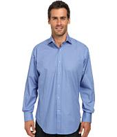 Thomas Dean & Co. - Long Sleeve Woven Geometric Check