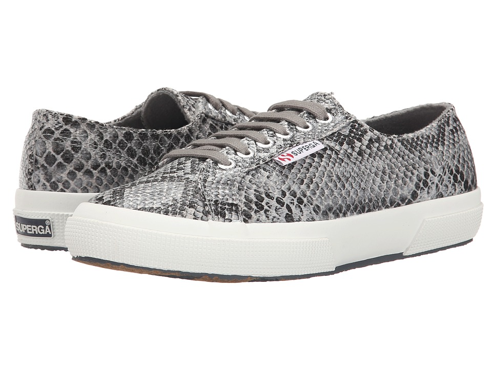 Superga 2750 Cot Snake W Black/Grey Womens Lace up casual Shoes