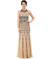 Adrianna Papell - Sleeveless Fully Beaded Gown
