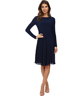 Adrianna Papell - Pleated Sleeve Fit & Flare Dress