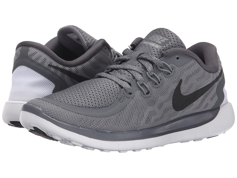 Nike Kids - Free 5.0 (Big Kid) (Dark Grey/Wolf Grey/Cool Grey/Black) Boys Shoes