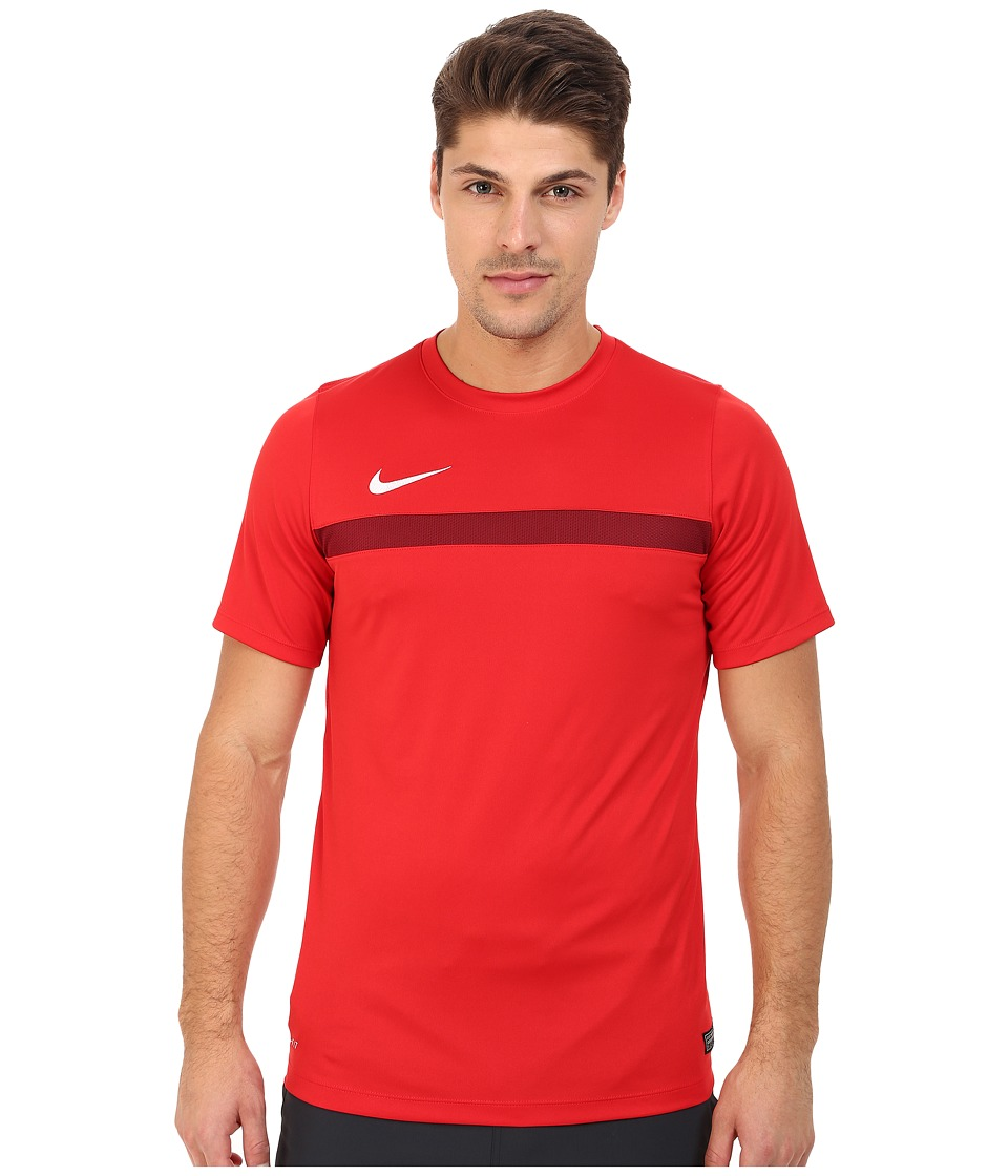 Nike - Academy S/S Training Top 1 (University Red/Team Red/White) Men