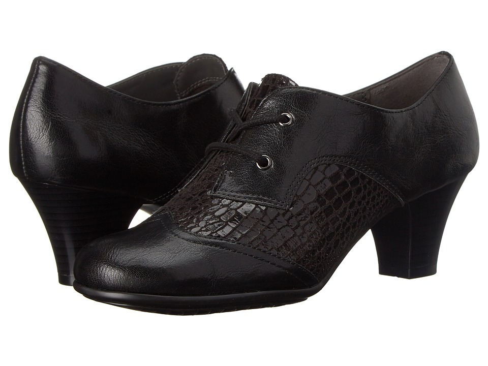 Aerosoles - Aristocrat Black Croco Womens  Shoes $69.00 AT vintagedancer.com