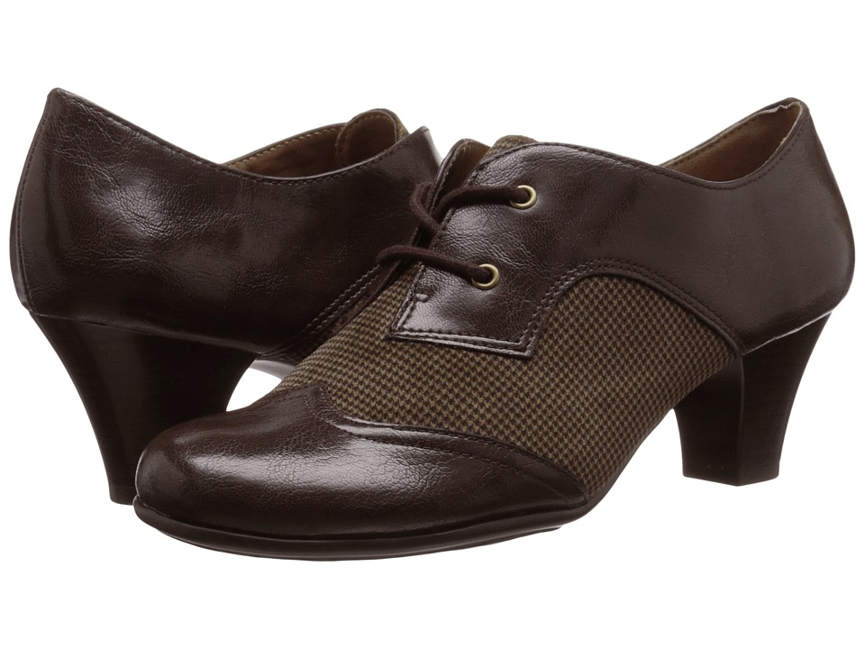 Aerosoles - Aristocrat Brown Fabric Womens  Shoes $69.00 AT vintagedancer.com