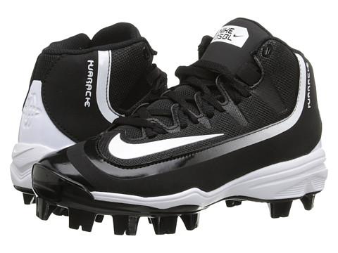 Nike Kids Huarache 2K Filth Pro Mid Baseball (Little Kid/Big Kid) - Black/White