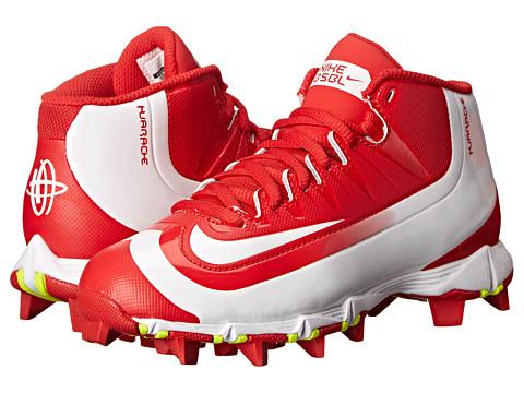 Nike Kids Huarache 2K Filth Keystone Baseball (Toddler/Little Kid/Big Kid) - University Red/Volt/White