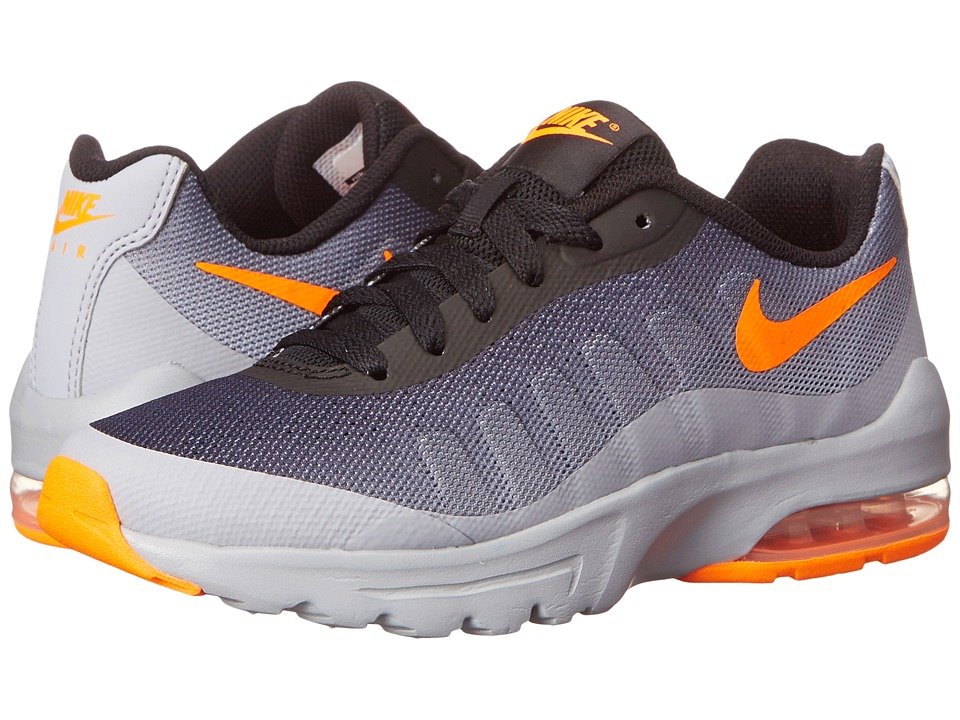Nike Kids Air Max Invigor (Big Kid) (Wolf Grey/Black/Total Orange) Boys Shoes