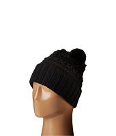 LAUREN Ralph Lauren - Multi Texture Cuff Hat w/ Pom