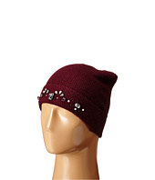 LAUREN by Ralph Lauren - Jewel Encrested Waffle Stitch Cuff Hat