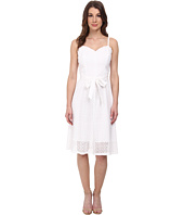Anne Klein - Eyelet Combo Sweetheart Dress