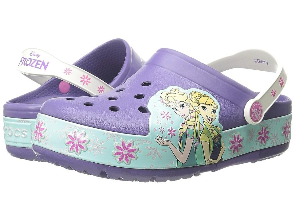 Crocs Kids CrocsLights Frozen Fever Clog Toddler/Little Kid Wild Orchard Girls Shoes