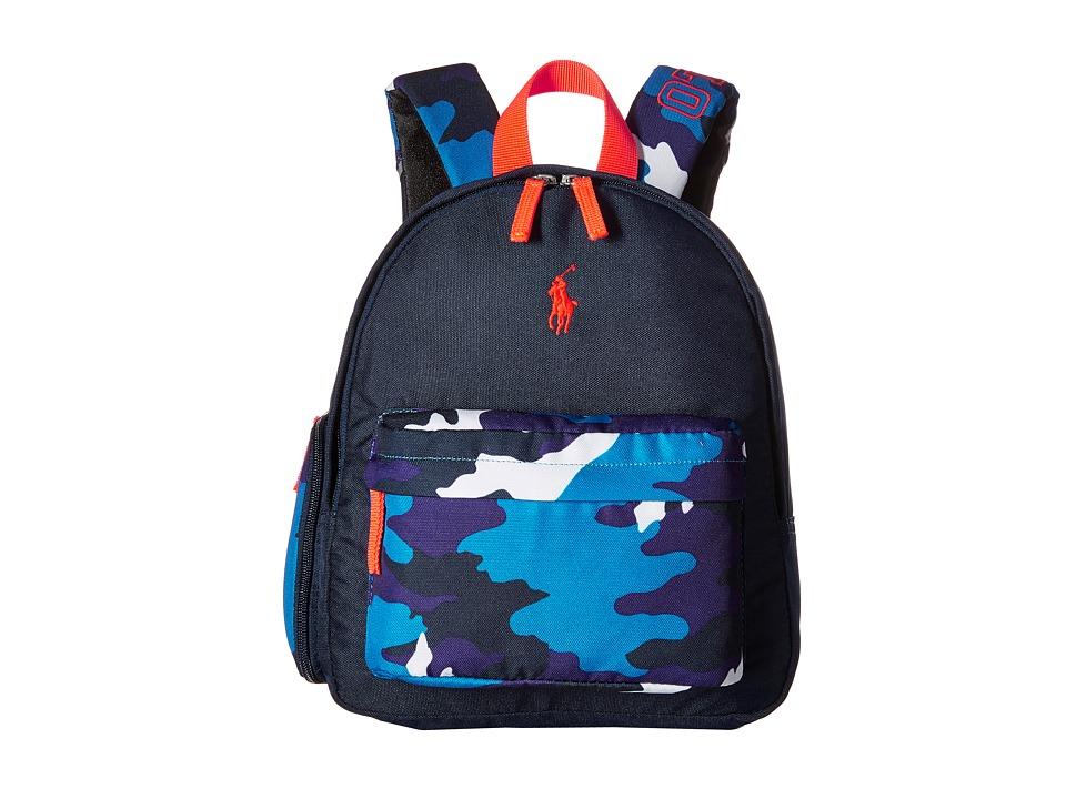 Polo Ralph Lauren Kids East Hampton Backpack Navy/Blue Camo/Orange Pop Backpack Bags