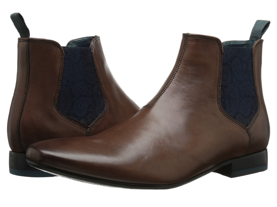 Ted Baker Hourb Brown Leather Mens Dress Pull on Boots