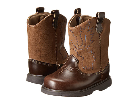 Baby Deer Western Boot (Infant/Toddler/Little Kid) - Brown