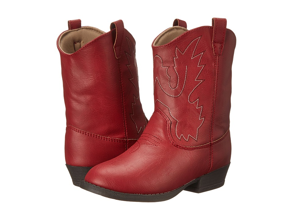 Baby Deer - Western Boot (Infant/Toddler/Little Kid) (Red) Cowboy Boots