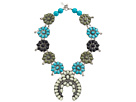 Gypsy SOULE Squash Blossom Necklace (White/Gray/Turquoise/Black)
