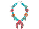 Gypsy SOULE Squash Blossom Necklace (Pink/Turquoise/Orange)