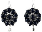 Gypsy SOULE Squash Blossom Bud Drop Earrings (Black)