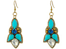 Gypsy SOULE Stone Statement Dangle Earrings (Turquoise/Gold)