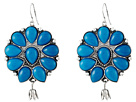 Gypsy SOULE Squash Blossom Bud Drop Earrings (Turquoise)