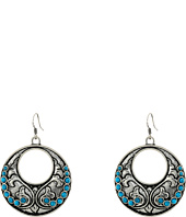 Gypsy SOULE - Fillagree Circular Earrings w/ Turquoise Stones