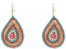Gypsy SOULE Seed Beaded Teardrop Earrings (Pink/Pearl/Turquoise)