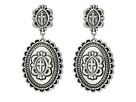 Gypsy SOULE Cross Concho Dangle Earrings (Silver)