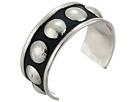Gypsy SOULE Mixed Metal Stud Cuff Bracelet (Silver)