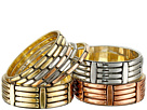 Gypsy SOULE Wide Narrow 9 Bangle Set (Silver/Gold/Copper)