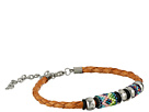 Gypsy SOULE Braided Leather Beaded Bracelet (Tan)