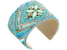 Gypsy SOULE - Stone Beaded Statement Cuff Bracelet (Turquoise)