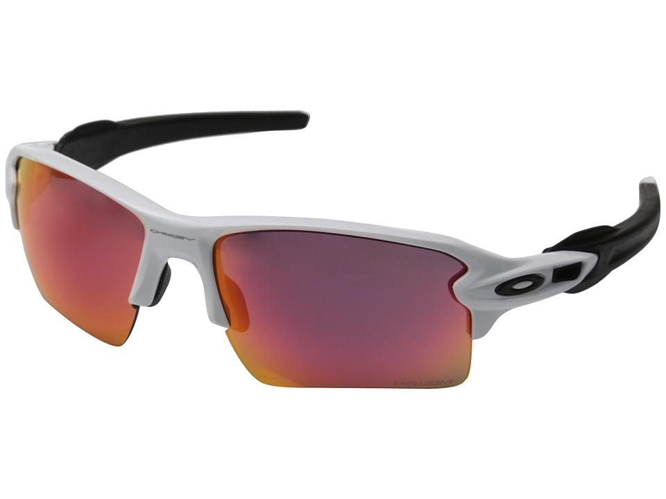 Oakley Flak 2.0 XL (Polished White w/Prizm Outfield) Sport Sunglasses