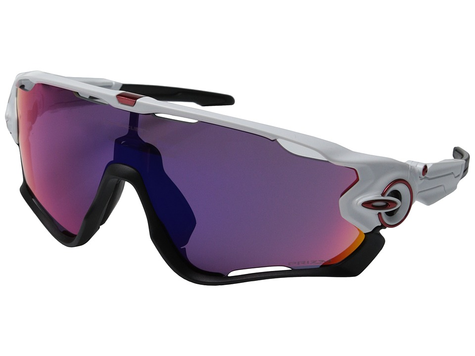 Oakley Jawbreaker (Polished White w/Prizm Road) Sport Sun...