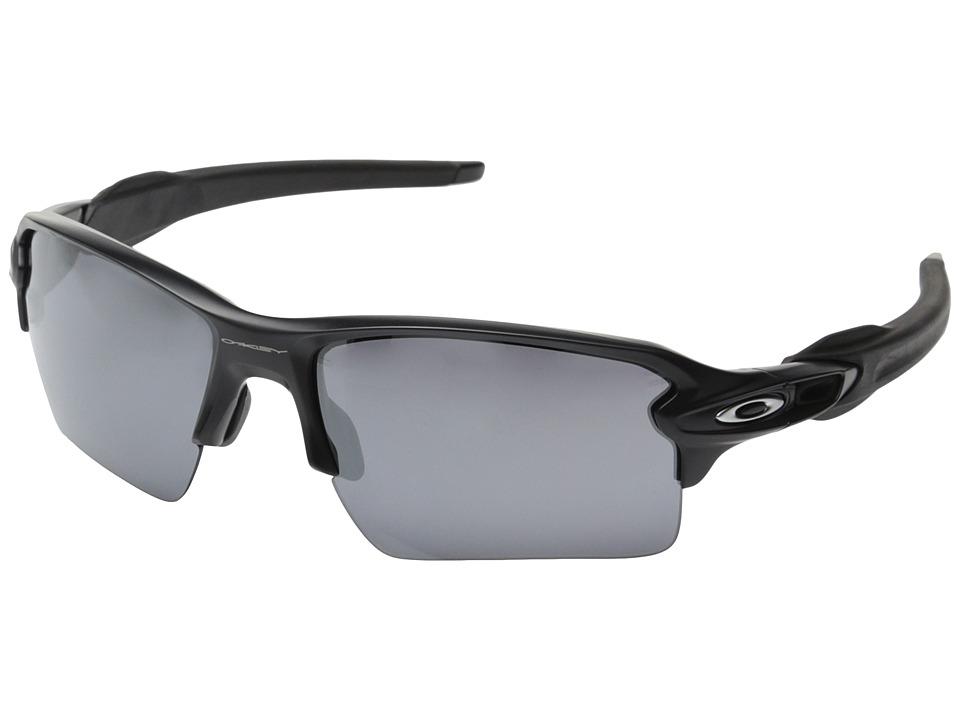 Oakley Flak 2.0 XL (Matte Black W/Black Iridium) Sport Sunglasses