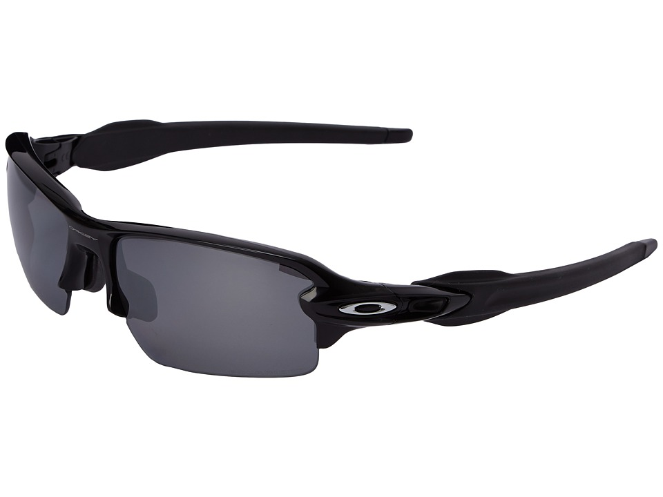 Oakley A Flak 2.0 Polished Black w/Black Iridium Polarized Sport Sunglasses