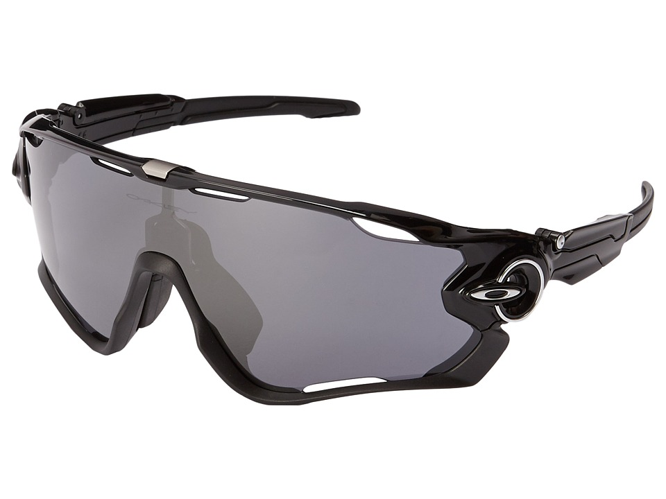 Oakley - (A) Jawbreaker (Polished Black W/Black Iridium) Sport Sunglasses