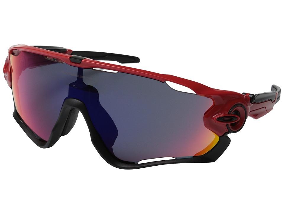 Oakley A) Jawbreaker (Redline w/+ Red Iridium) Sport Sung...
