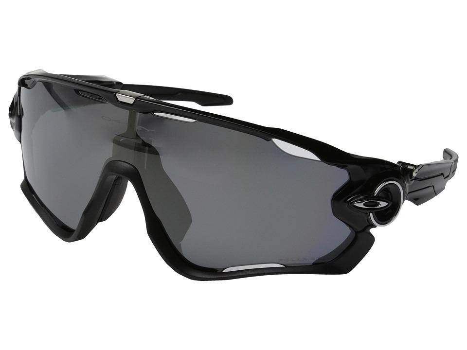 Oakley A Jawbreaker Polished Black w/Black Iridium Polarized Sport Sunglasses