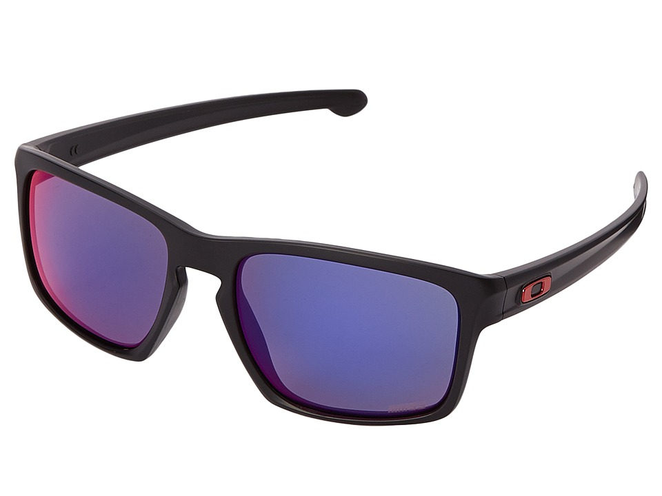 Oakley - Sliver (Matte Black w/+ Red Iridium) Sport Sunglasses