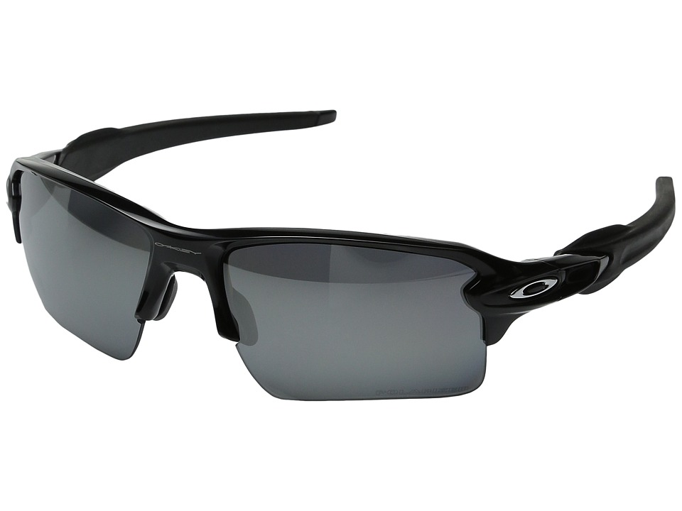 Oakley - Flak 2.0 XL (Polished Black w/Black Iridium Polarized) Sport Sunglasses