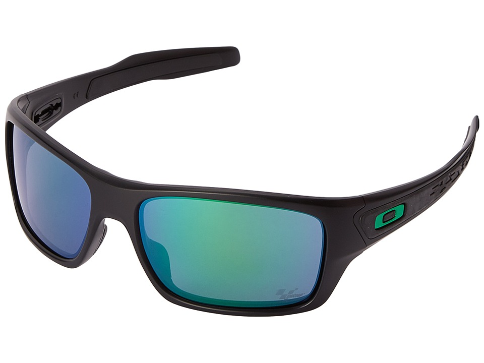 Oakley Turbine (Matte Black w/Jade Iridium) Sport Sunglasses