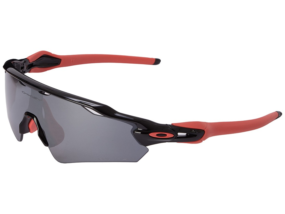 Oakley Radar EV Asian (Polished Black w/Black Iridium Pol...