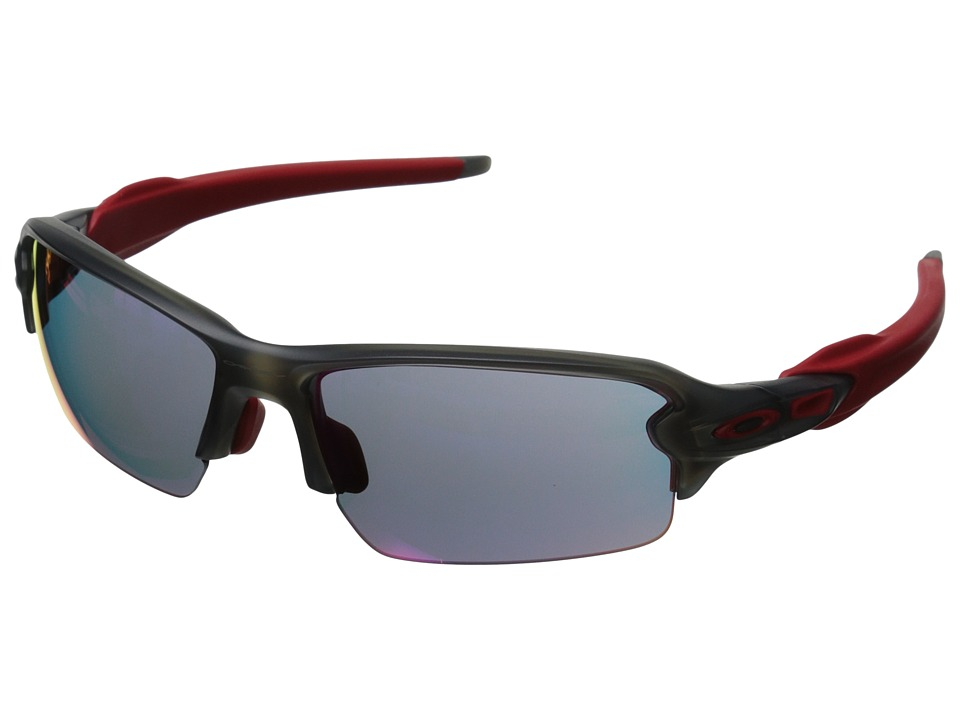 Oakley A Flak 2.0 Matte Grey Smoke w/ Red Iridium Sport Sunglasses