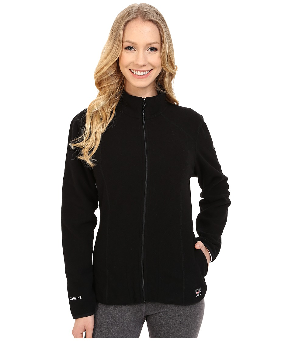 Hot Chillys Baja Zip Jacket w/ Binding Black Womens Coat