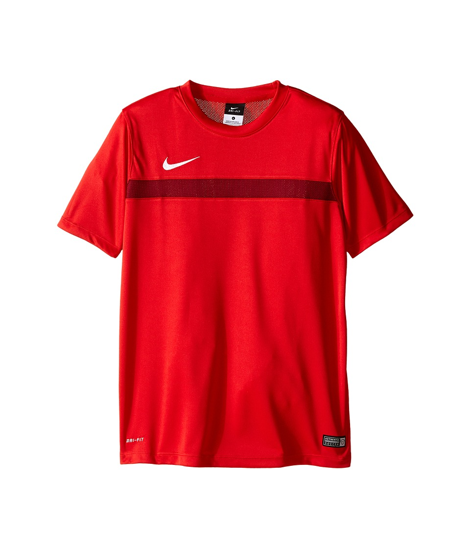 Nike Kids Academy S/S Training Top 1 Little Kids/Big Kids University Red/Team Red/White Boys Short Sleeve Pullover