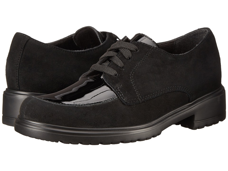 Munro American Veranda Black Suede/Patent Womens Lace up casual Shoes